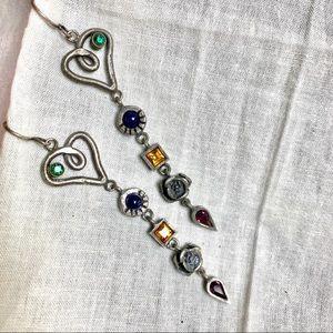 Patricia Locke Handcrafted Heart & Rose Earrings